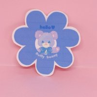 フラバニステッカー flower (bear)