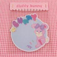 ダイカットメモ balloon bunny